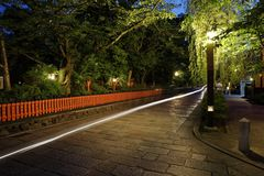 Vue de nuit de Gion photo stock