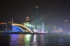 Vue de nuit de Guangzhou Chine photographie stock