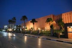 Vue de nuit de musée de Louxor - Egypte Photos stock
