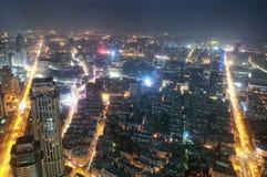 Vue de nuit de porcelaine de Nanjing images libres de droits