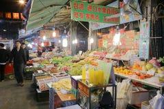 Vue de nuit de support de fruit, adobe RVB Photos stock