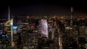 Vue de nuit sur Manhattan Photos libres de droits