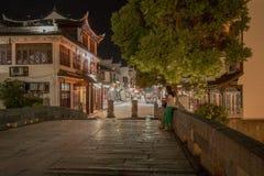 Vue de nuit de ville de dynastie de Quing image libre de droits