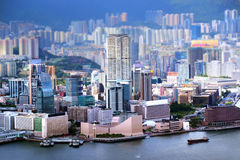 Vue de péninsule de Kowloon en Hong Kong photographie stock libre de droits