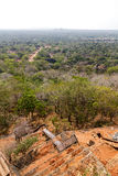 Vue de palais de la roche du lion de Sigiriya photos stock