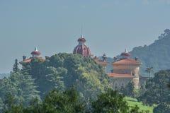 Vue de palais et de façade de Monserrate photographie stock