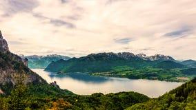 Vue de Panaromatic sur Traunsee dans Gmunden, Autriche Photo libre de droits