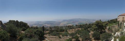 Vue de panorama de bâti le Thabor, Israël photo stock