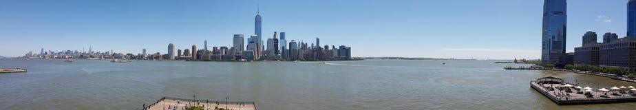 Vue de panorama d'horizons de New York photographie stock