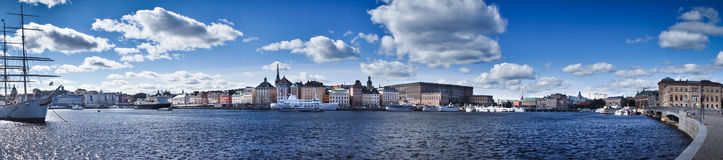 Vue de panorama de Gamla Stan, Stockholm, Suède Images stock