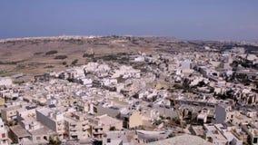 Vue de panorama de Gozo, Malte banque de vidéos