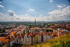 Vue de panorama de Klodzko photos libres de droits