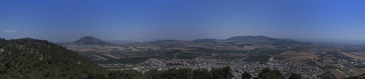 Vue de panorama de la crête de mt le Thabor, Israël photographie stock libre de droits
