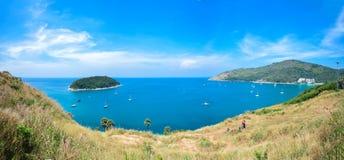 Vue de panorama de la mer d'Andaman du point de visionnement, Phuket Photographie stock