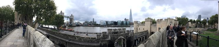 Vue de panorama de Londres Image stock