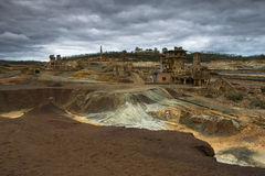 Vue de panorama de mine Photographie stock
