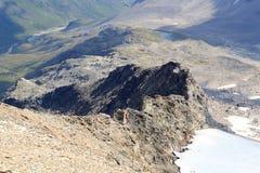 Vue de panorama de montagne, Alpes de Hohe Tauern, Autriche Photos libres de droits