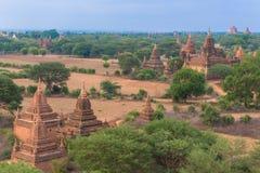 Vue de panorama de vieux Bagan Photographie stock libre de droits