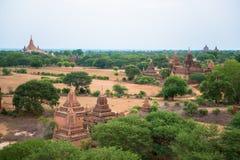 Vue de panorama de vieux Bagan Photos stock