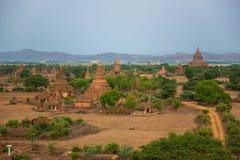 Vue de panorama de vieux Bagan Image libre de droits