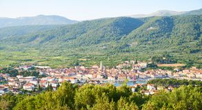 Vue de panorama de diplômé de Stari photo stock