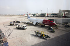 Vue de panorama de l'aéroport de Palma de Mallorca, 08 07 2017 Palma de Mallorca, Espagne Image stock