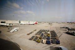 Vue de panorama de l'aéroport de Palma de Mallorca, 08 07 2017 Palma de Mallorca, Espagne Photographie stock libre de droits