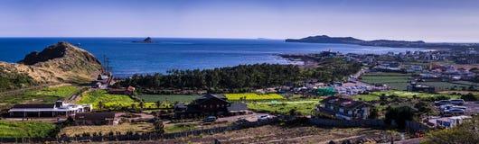 Vue de panorama de la plage de Yongmeori à l'île de Jeju photo libre de droits