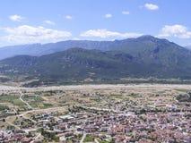 Vue de panorama de la plate-forme d'observation en haut de la gamme de montagne image stock