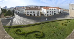 Vue de panorama de la ville d'Evora, Portugal images libres de droits