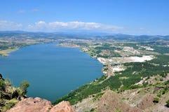 Vue de panorama le barrage Images stock