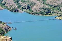 Vue de panorama le barrage Image stock