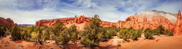 Vue de panorama de parc d'état de bassin de Kodachrome Image libre de droits