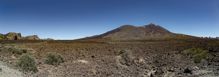 Vue de panorama sur l'EL Teide, Ténérife Espagne Images stock