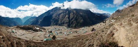 Vue de Panoramatic de village de Portse Photographie stock