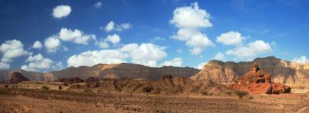 Vue de Panoranic de Timna Photos libres de droits