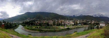 Vue de Panoromic de thimpu Photo libre de droits