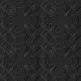 vue de papier foncée Dot Line de croix de place de contrôle de l'art 3D Images stock