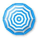 Vue de parapluie de plage première Photo stock