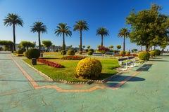 Vue de parc dans la ville de Santander Image stock