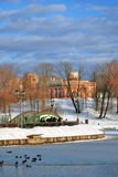 Vue de parc de Tsaritsyno à Moscou Photo stock