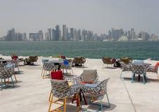 Vue de parc de Doha photographie stock