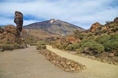 Vue de parc national de teide d'EL Image libre de droits