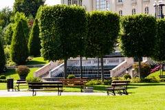 Vue de parc de Palas dans Iasi, Roumanie Image libre de droits