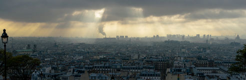 Vue de Paris Photo stock