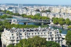 Vue de Paris Images libres de droits