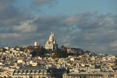 Vue de Paris avec Sacre Coeur Photographie stock libre de droits