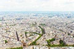 Vue de Paris de Tour Eiffel Image libre de droits