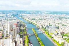 Vue de Paris de Tour Eiffel Photographie stock libre de droits