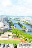 Vue de Paris de Tour Eiffel Photos libres de droits